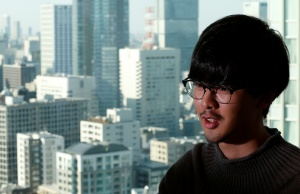 Fukuda, a software engineer at Next Currency Inc, speaks during an interview with Reuters at the company's headquarters in Tokyo