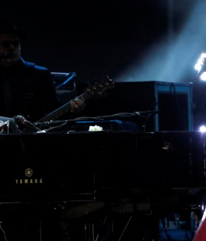 "Elton John and Miley Cyrus perform ""Tiny Dancer"" during the 60th Annual Grammy Awards Show in New York"