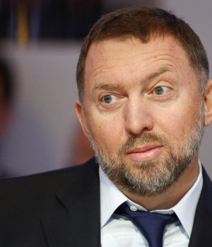 "Russian tycoon and President of RUSAL Oleg Deripaska listens during the ""Regions in Transformation: Eurasia"" event in Davos"