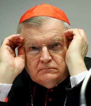 "Cardinal Raymond Burke attends a conference ""The Limits of Papal Authority"" in Rome"