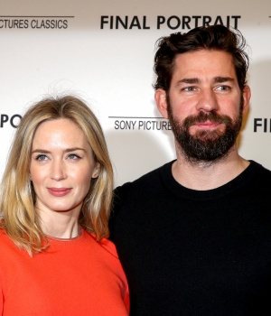 Actors Emily Blunt and John Krasinski arrive for a special screening of 'Final Portrait' in New York