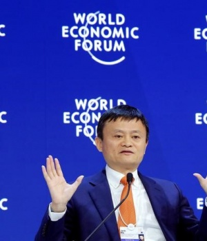 Jack Ma, Executive Chairman of Alibaba Group Holding, attends the World Economic Forum (WEF) annual meeting in Davos
