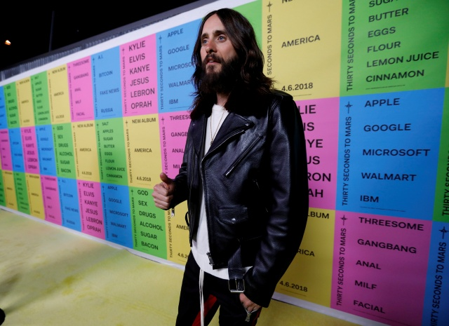 Lead singer of Thirty Seconds to Mars Leto attends a launch party for the album