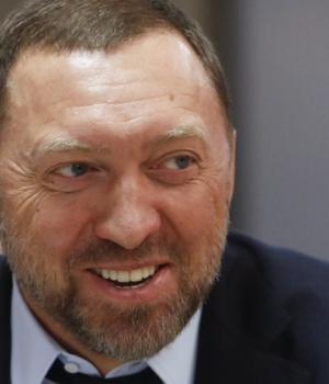 President of En+ Group, Oleg Deripaska attends an agreement signing ceremony with the Krasnoyarsk region's government, in Moscow