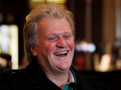 Tim Martin, chairman and founder of pubs group Wetherspoon, attends an interview with Reuters at the Metropolitan Bar in London