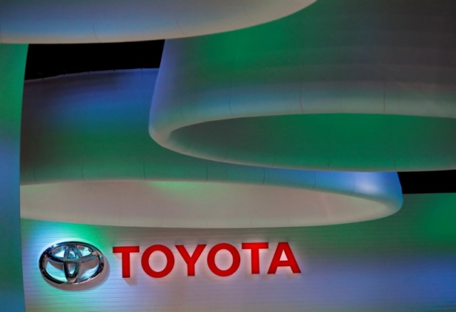 Toyota Motor's logo is pictured at the 45th Tokyo Motor Show in Tokyo