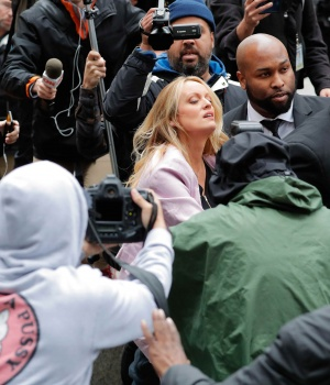 Stormy Daniels enters federal court in Manhattan