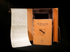 An exact replica of MarcoPolo's 700-year-old last will and testament, is seen in Rome