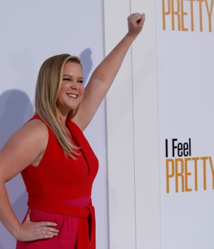 "Cast member Schumer poses at the premiere of ""I Feel Pretty"" in Los Angeles"
