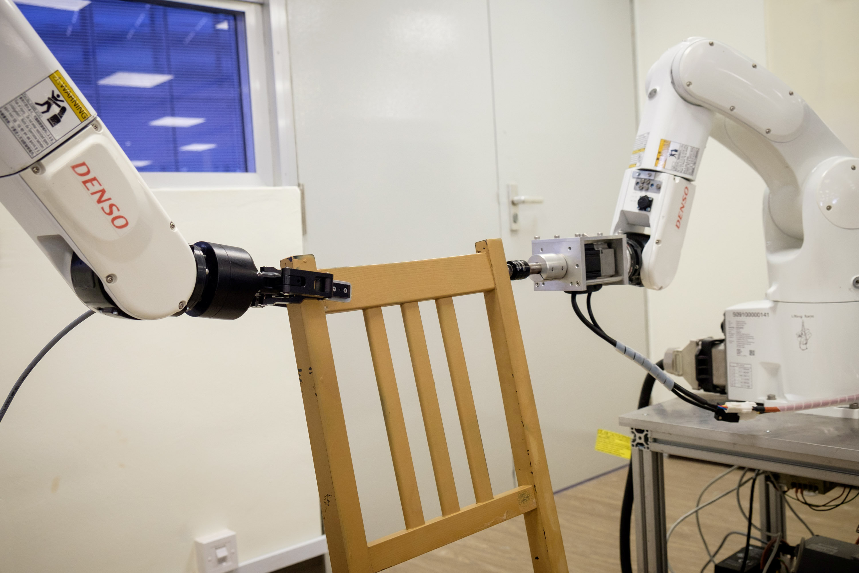 Flatpack Fear No More Robot Assembles IKEA Chair Frame OMG News Today
