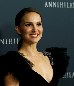 """Cast member Portman poses at the premiere for """"Annihilation"""" in Los Angeles"""