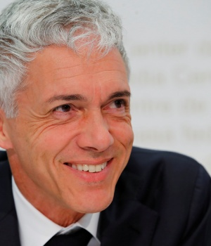 Swiss Attorney General Lauber attends his yearly news conference in Bern