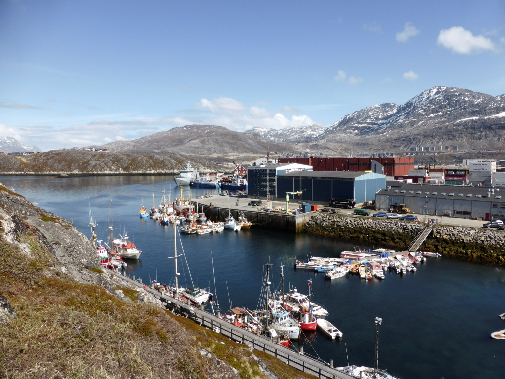 A general view of the port of Nuuk