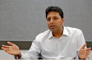 Amit Agarwal, Amazon's India Country Head and Global Senior Vice President, speaks during an interview with Reuters inside his office in Bengaluru
