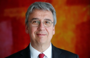 Andreas Mundt, president of Germany's Federal Cartel Office, poses for a photo before an interview with Reuters in Bonn
