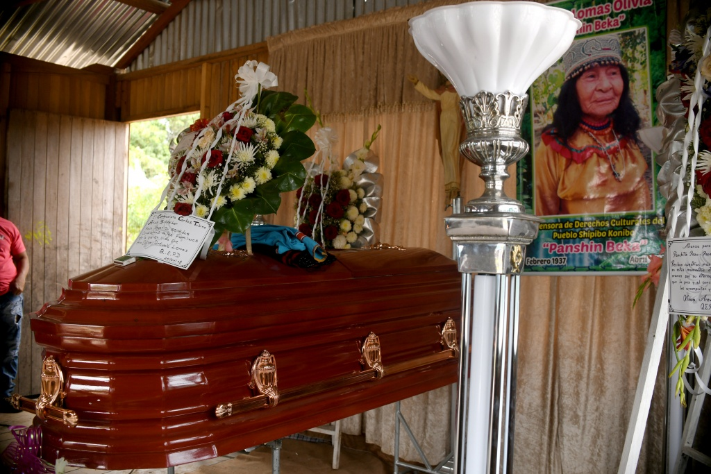 Funeral of Olivia Arevalo in Pucallpa