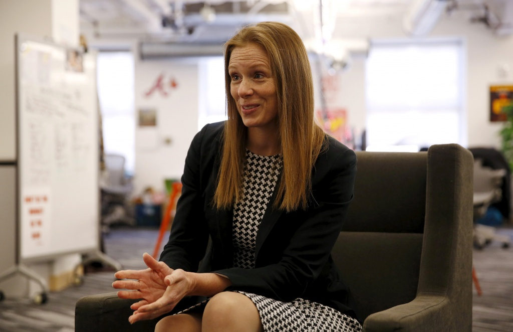 Monika Bickert, Facebook's head of global policy management, is interviewed by Reuters in Washington