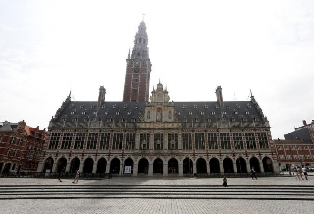The library of the university KU Leuven is pictured in Leuven
