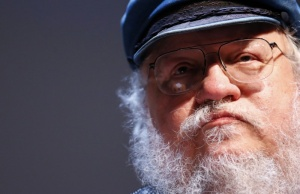 George R.R. Martin pauses during his masterclass at the NIFFF in Neuchatel