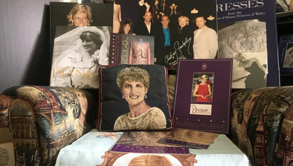 Royal family memorabilia of collector John Hoatson is shown at his home in Pompano Beach