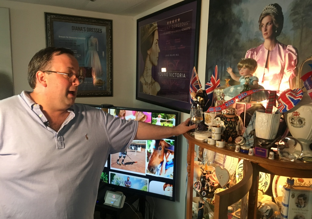 Collector Hoatson shows his collection of royal family memorabilia at his home in Pompano Beach