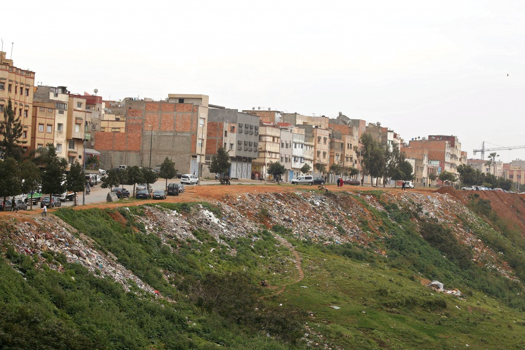 A general view shows buildings of Ouled Moussa district, on the outskirts of Rabat