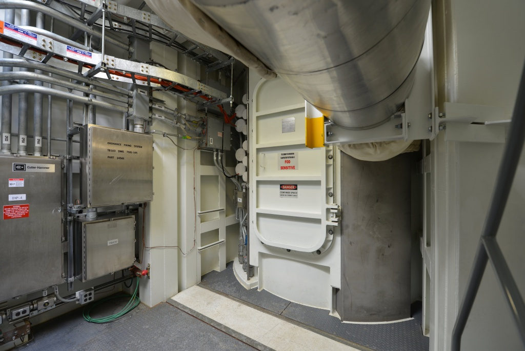 Missile silo interface vault at the Ft. Greely missile defence complex in Fort Greely