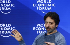 Brin, Google co-founder attends the WEF annual meeting in Davos