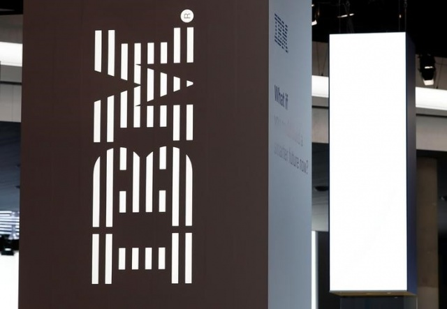Logo of IBM is seen at the Mobile World Congress in Barcelona