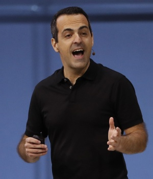Facebook Vice President of Virtual Reality Hugo Barra speaks at Facebook Inc's annual F8 developers conference in San Jose