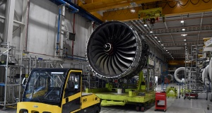 Rolls Royce Trent XWB engines designed for the Airbus A350 family of aircraft
