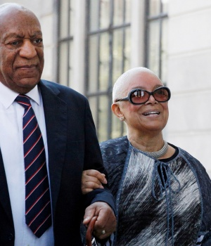 Actor and comedian Bill Cosby arrives with his wife Camille for his sexual assault trial at the Montgomery County Courthouse in Norristown