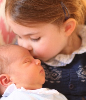 Britain's Princess Charlotte and her brother Prince Louis are seen in this handout photograph taken by Britain's Catherine, Duchess of Cambridge, at Kensington Palace in London