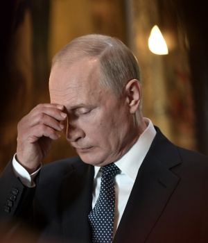 Russian President Putin attends a prayer service after an inauguration ceremony at the Kremlin in Moscow
