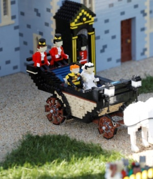 A LEGO Windsor Castle replete with the upcoming wedding between Britain's Prince Harry and Meghan Markle, is seen at Legoland, in Windsor