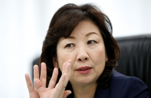 Japan's Internal Affairs and Communications Minister Seiko Noda, who is also minister in charge of women's empowerment, speaks during an interview in Tokyo