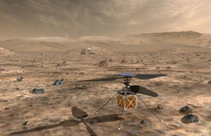 NASA's Mars Helicopter a small autonomous rotorcraft in this artist rendition