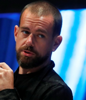 Jack Dorsey, CEO and co-founder of Twitter and founder and CEO of Square, speaks at the Consensus 2018 blockchain technology conference in New York City