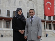 Mustafa El Sagezli, General Manager of LPRD, and his wife Badia pose in front of the Fatih Mosque in Istanbul