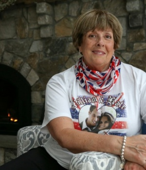Royal superfan Donna Werner poses for a picture in her home in New Fairfield, Connecticut