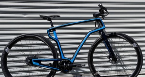 A 3D-printed carbon fiber commuter bicycle by Arevo Labs is seen in Santa Clara, California