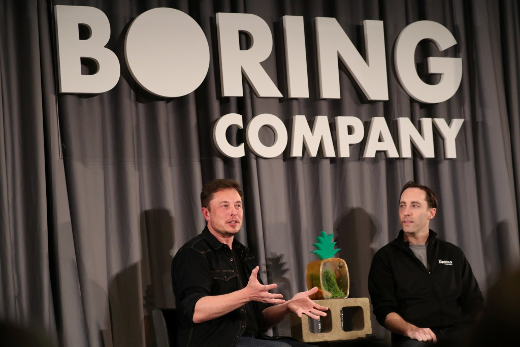 Elon Musk speaks at Boring Company community meeting in Bel Air, Los Angeles