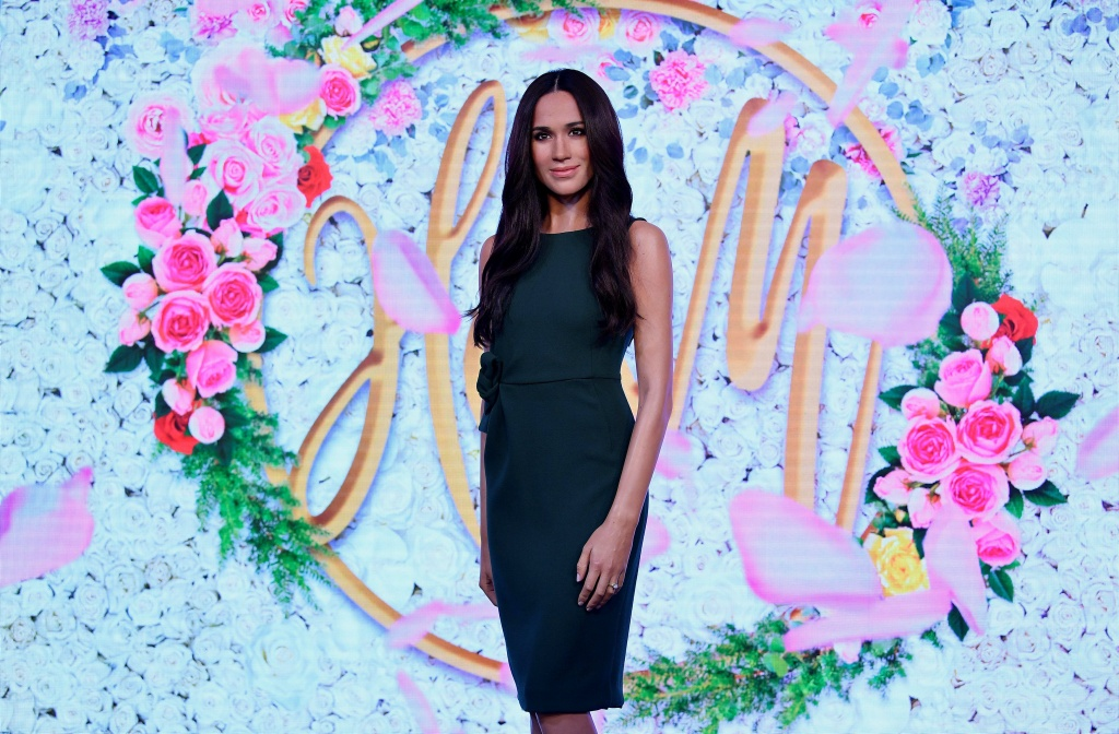 A waxwork model of Meghan Markle, fiancee to Britain's Prince Harry, is seen on display at Madame Tussauds in London, Britain