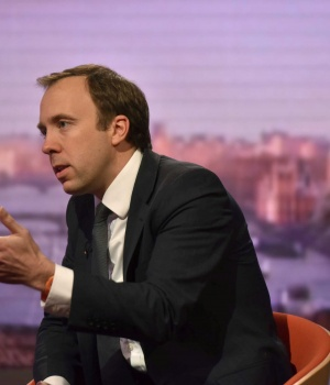 Britain's Secretary of State for Digital, Culture, Media and Sport, Matt Hancock, appears on the BBC's Marr Show in London