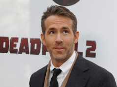 "Actor Ryan Reynolds poses on the red carpet during the premiere of ""Deadpool 2"" in Manhattan New York"