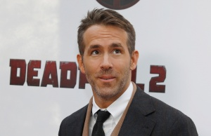 """Actor Ryan Reynolds poses on the red carpet during the premiere of """"Deadpool 2"""" in Manhattan New York"""