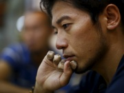 Japanese climber Nobukazu speaks during an interview in Kathmandu