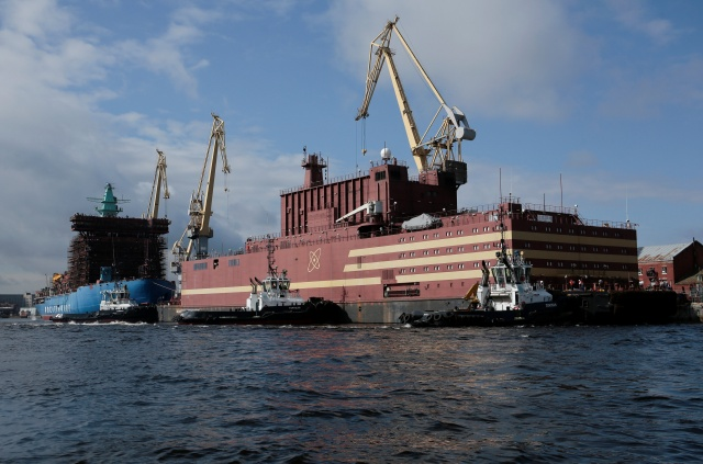 The floating nuclear power plant