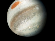 NASA's Juno spacecraft color-enhanced image of Jupiter