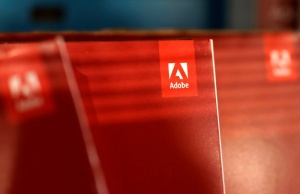 An Adobe Systems Inc software box is seen in Los Angeles